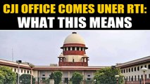 Chief Justice of India's office comes under right to information ambit | OneIndia News