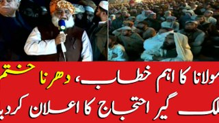 Maulana Fazlur Rehman announces to conclude sit-in