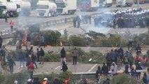 Los Mossos desbloquean los cortes en la AP-7 en Salt (Girona)