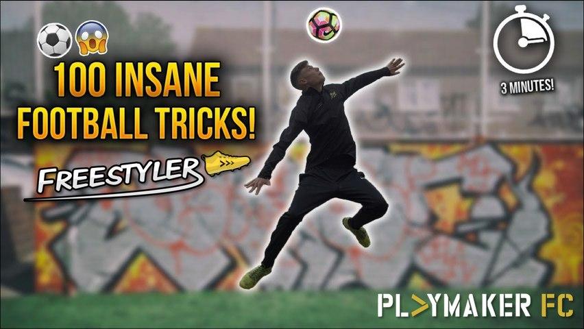 Freestyler | 100 Insane Football Tricks in 3 Minutes