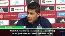 Rodri pays tribute to 'role model' David Villa