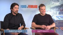 Christian Bale and Matt Damon Joke About 'Ford v Ferrari' Fight Scene: 'Batman Versus Bourne'