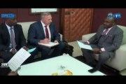 RTG/Le nouveau ministre des mines, du pétrole et des hydrocarbures et Gaz, Noël Mboumba a reçu en audience le représentant de la banque mondiale au Gabon