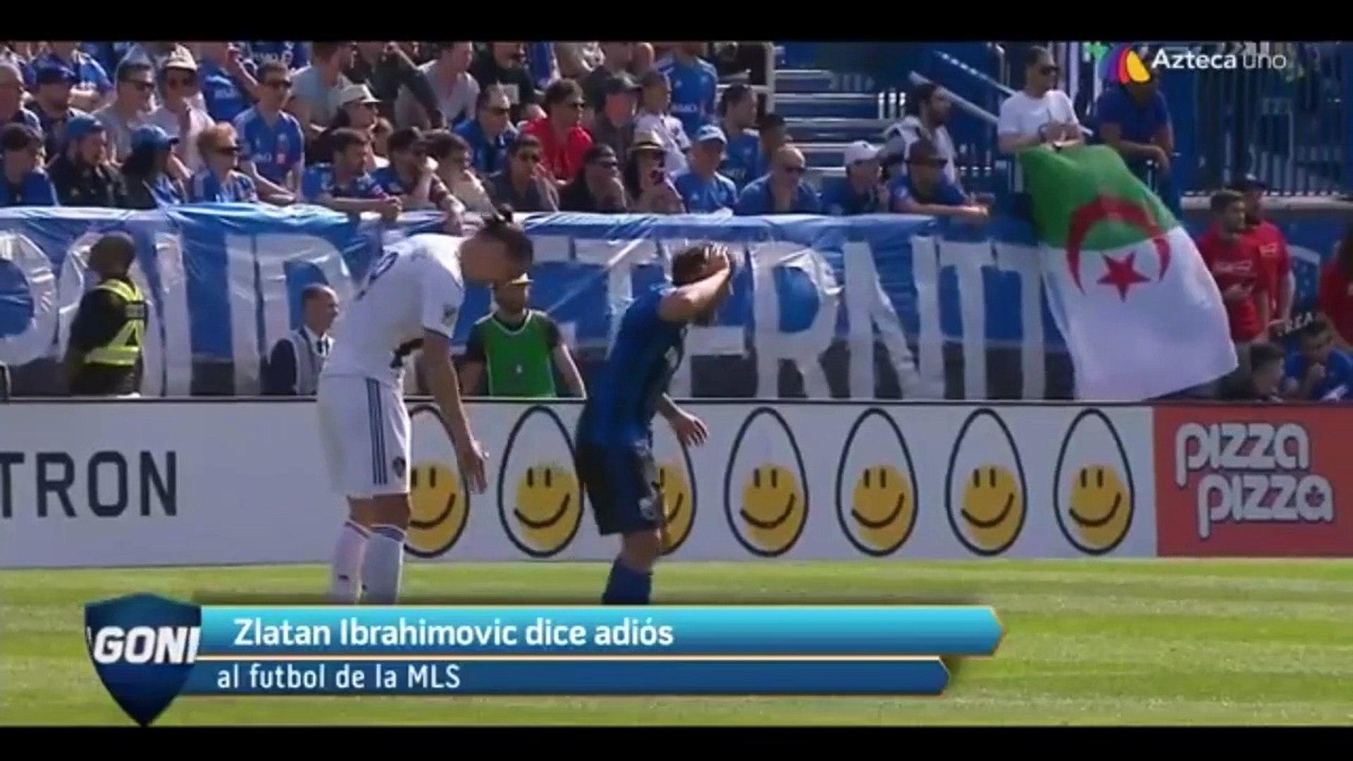 Zlatan Ibrahimovic dice adiós a la MLS | Azteca Deportes