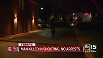 Man killed in Tempe shooting, no arrests