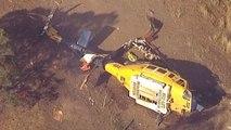 Sobrevive a un accidente de helicóptero cuando apagada un incendio