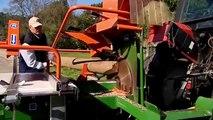 amazing wood cutting machine - modern firewood processing machines - whole tree chipper machine