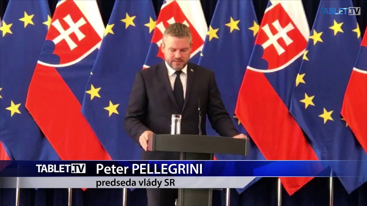 ZÁZNAM: TK predsedu vlády P. Pellegriniho po mimoriadnom rokovaní vlády