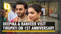 Deepika & Ranveer Seek Blessings at Tirupati on First Anniversary