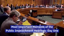 Day One Of The Public Impeachment Hearings