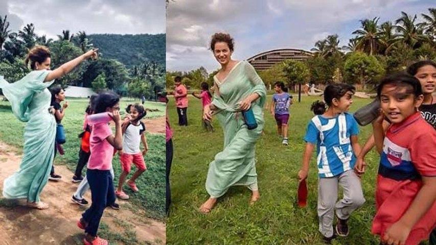 Kangana Ranaut enjoys kids company on Children's Day | FilmiBeat
