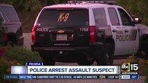 Peoria police arrest assault suspect