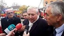 Incendie à Annecy : les réactions du préfet et du maire