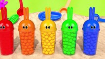 Learn Colors Bunny Mold Outdoor Sand Playground and Animals Finger Family Song for Kids Children