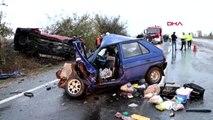 Tekirdağ'da yağış kaza getirdi: 2 ölü, 3 yaralı