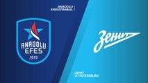 Anadolu Efes Istanbul - Zenit St Petersburg Highlights | Turkish Airlines EuroLeague, RS Round 8