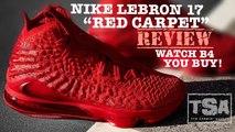 Nike Lebron 17 Red October Carpet Sneaker Detailed Review