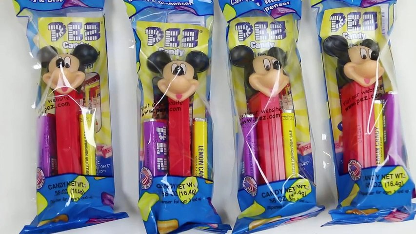 Disney Mickey Mouse and Friends Pez Candy Dispensers-