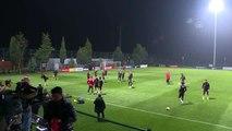 (TEKRAR) A Milli Futbol Takımı, İzlanda maçı hazırlıklarını tamamladı