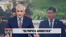 S. Korea's unification minister suggests U.S., N. Korea consider 'Olympics armistice'
