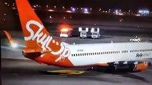 Un avion prend feu avec 196 personnes à bord