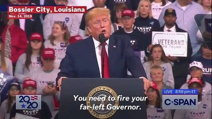Trump Reminds Louisiana Rally Attendees Why He Calls Schumer 'Cryin' Chuck'