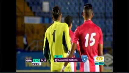 Segundo gol de Guatemala ante Puerto Rico