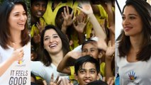Tamannaah Bhatia Celebrated Children's Day With Hearing And Visually Impaired Children