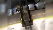 El robo más peligroso en Estados Unidos en unas escaleras mecánicas