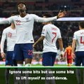 Abraham ignoring the praise after first England goal