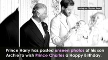 Prince Harry shares photo with three generations of royals