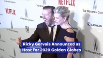 Ricky Gervais Will Head The 2020 Golden Globes