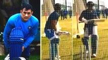 Ex Captain Dhoni Net practises in Ranchi