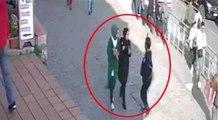 Başörtülü kadına tuhaf saldırı