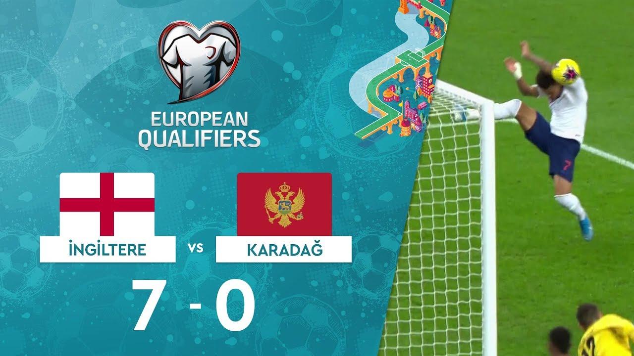 İngiltere 7-0 Karadağ | EURO 2020 Elemeleri Maç Özeti - A Grubu