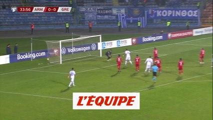 Le but d'Arménie - Grèce - Foot - Qualif. Euro 2020
