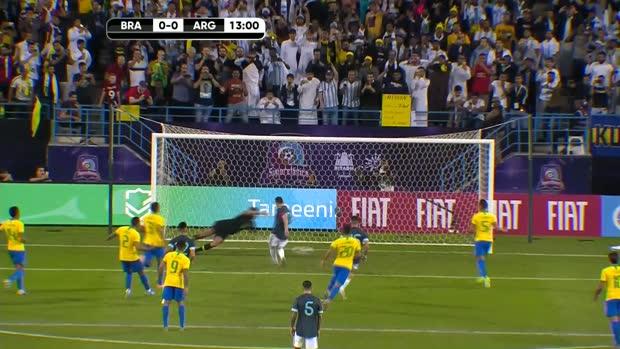 Messi the hero on Argentina return against Brazil