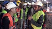 Suriyeli işçiler çöken iskelenin altında kalan mühendisi arama çalışmalarına destek verdi - GAZİANTEP