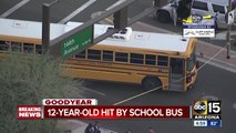 12-year-old hit by school bus in Goodyear, transported to hospital