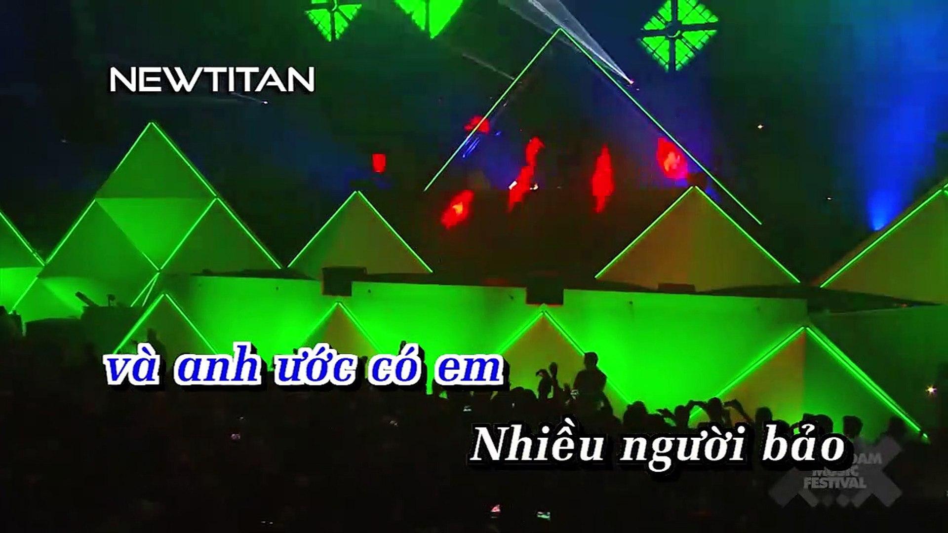 [Karaoke] Anh Đợi Em Nha (Dj.t-Bản Remix™) - Vương Anh Tú [Beat]