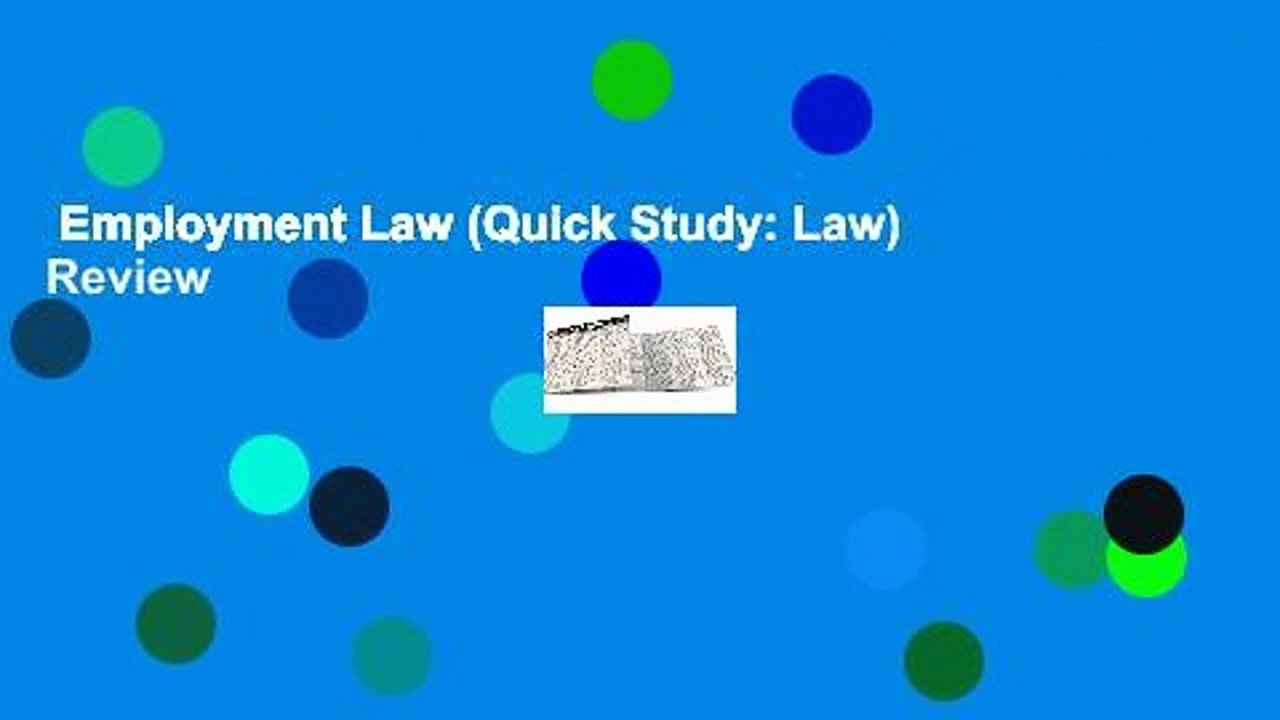Employment Law (Quick Study: Law)  Review