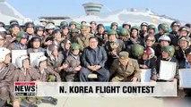 "N. Korean leader Kim Jong-un attends flight contest by regime's ""invincible"" air force: KCNA"