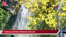 Sızır Şelalesi'nde sonbahar güzelliği
