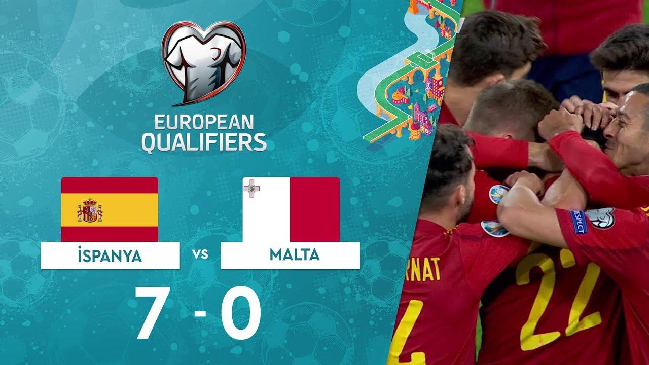 İspanya 7-0 Malta | EURO 2020 Elemeleri Maç Özeti - F Grubu