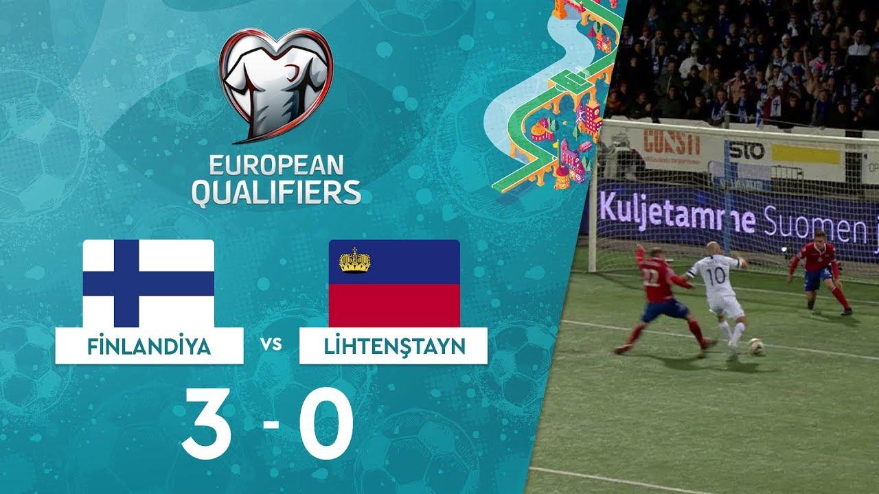 Finlandiya 3-0 Lihtenştayn | EURO 2020 Elemeleri Maç Özeti - J Grubu