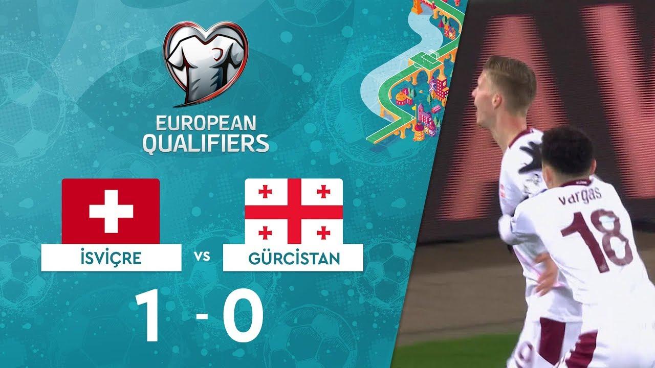 İsviçre 1-0 Gürcistan | EURO 2020 Elemeleri Maç Özeti - D Grubu