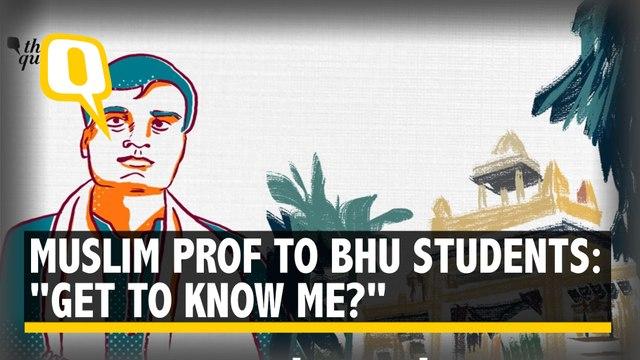 """Muslim Professor Teaching Sanskrit in BHU Asks, """"Get to Know Me Better?"""""""