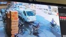 لحظة انفجار سيارة مفخخة في مدينة الباب