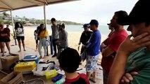 Treinamento de voluntários para chegada do óleo nas praias da Grande Vitória