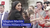 Meghan Markle Gets Introduced To Hillary Clinton
